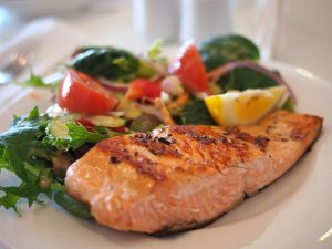 salmon, fish, seafood
